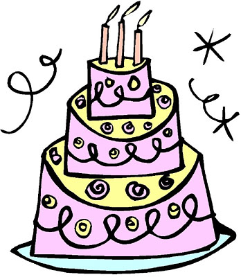 Funny Birthday Cake Clip Art